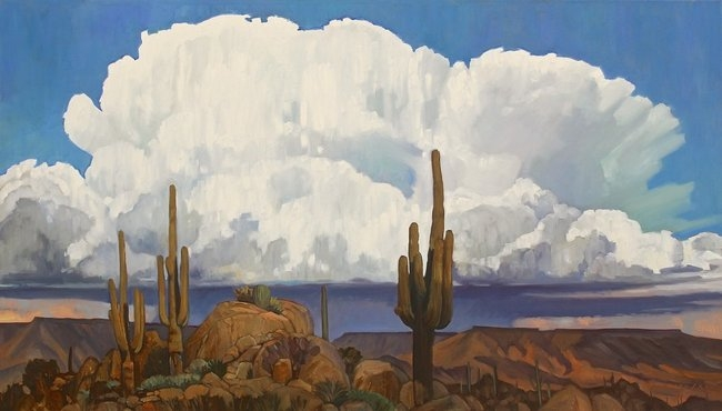 Mountain Home Auto Ranch >> Sonoran Desert Monsoon - The Art of Dennis Ziemienski, Painting Gallery